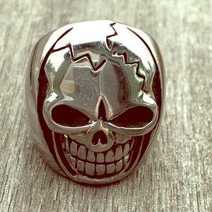 Men's nickel Skull Ring